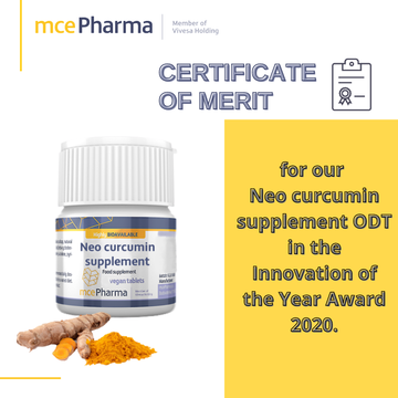 CERTIFICATE OF MERIT for Neo curcumin supplement ODT